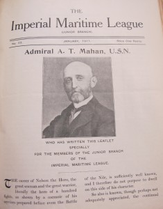 Figure 2: 'Admiral A. T. Mahan', Junior Branch Leaflet, 23 (January 1911) in Volume of pamphlets and/or newspaper cuttings: Imperial Maritime League - Junior Branch, 1909-12, NMM HSM 16, National Maritime Museum, Greenwich, London.