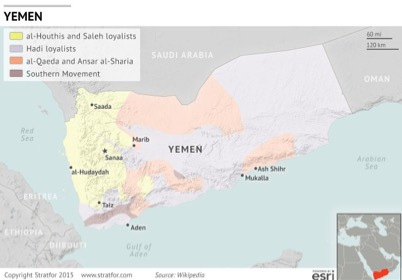 Figure 2: Insurgency in Yemen (Source: Stratfor Global Intelligence)