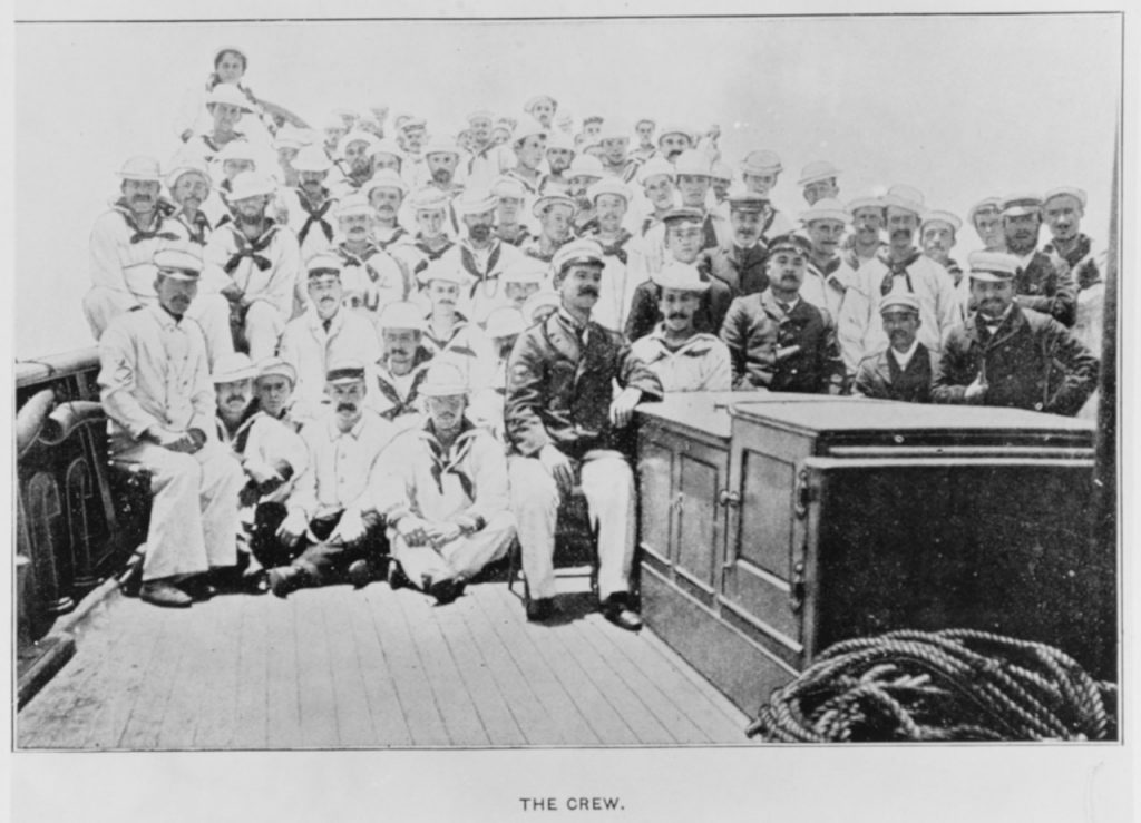 The Crew of the Auxiliary Gunboat Gloucester (NHHC Photo # NH 53751)