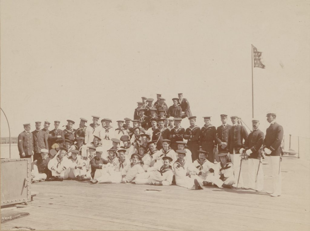 A Photo of the 1st Battalion of the New York Naval Militia Aboard the Monitor Nahant.